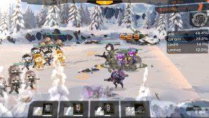 ゲーム内では同じキャラが複数体で戦っているのが分かる。